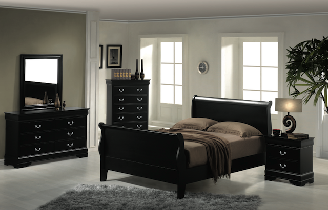 Sleigh Bedroom set 1