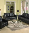 Andrea 3 Pc. Sofa Set (All Over Bonded Leather)