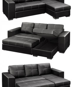 Gianni Storage Sectional With Pullout Bed And Reversable Chaise  Code: Rig 1054 Sec (Pu)