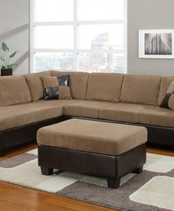 Opera Sectional Sofa With Storage Ottoman