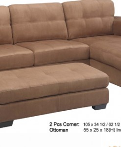 Como Sectional (All Bonded Leather)